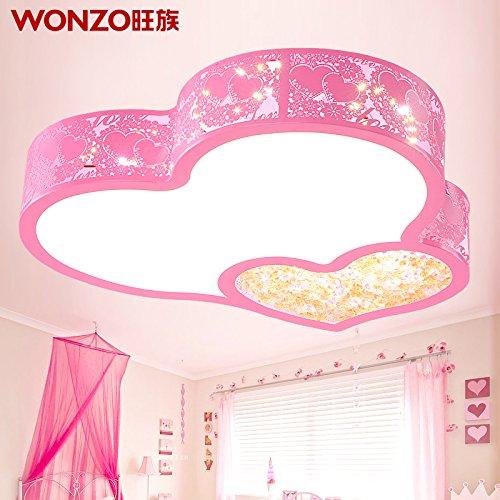 JJ LED modernes ceiling lamp LED lampe de plafond dans la chambre chaleureuse salle de mariage romantique rose en forme de coeur des lampes en cristal Chambres d'enfants/PRINCESS Lampes,220V-240V