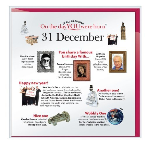 Day You Were Born Greetings Cards - 20 December by that company called if