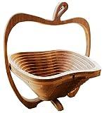décoratifs pliant en bambou en forme de pomme Bol de fruits Corbeille à fruits