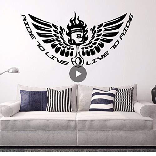 er Wandaufkleber Ride To Live Quote Fototapete Motoclub Riders Wallpaper Motorrad Wandtattoo Sammlung 84 * 42 Cm ()