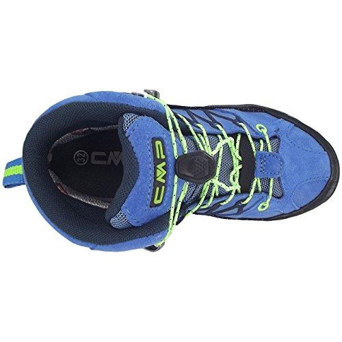 C.P.M. Rigel Mid Wp, Chaussures de Randonnée Hautes mixte enfant Turquoise (Royal-frog)