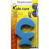 Kingdiscount K0985 Childproofing Butoir de porte en forme de poisson Motif coloré
