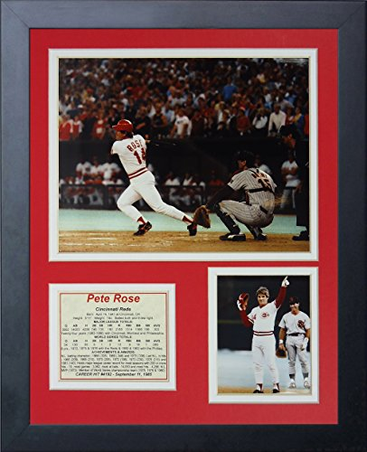 "Price comparison product image Legends Never Die ""Pete Rose Hit #4192"" Framed Photo Collage, 11 x 14-Inch"