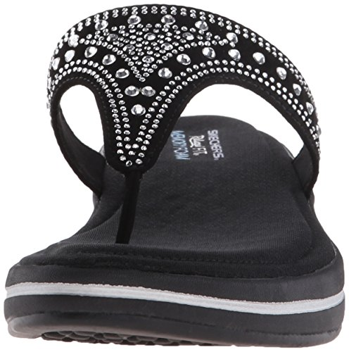 Skechers Upgrades Drizzled, Tongs Femme Noir