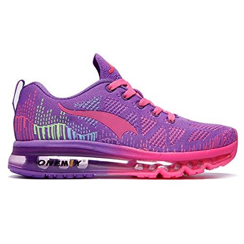 ONEMIX Air Scarpe da Ginnastica Corsa Basse Donna Uomo Sportive Basket Running Sneaker Estive Purple