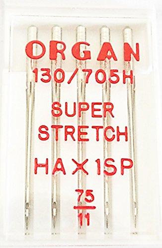 Organ Nähmaschinennadeln Super Stretch 75er 130/705 H 5435075 - Lycra Für Nähmaschine