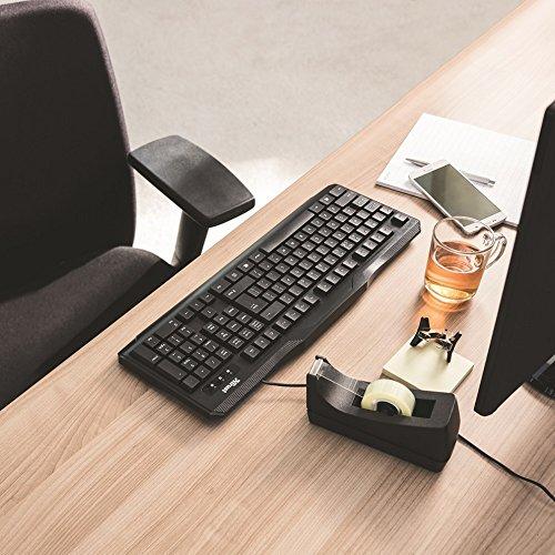 Trust ClassicLine Tastatur (spritzwassergeschützt, leiser Tastenanschlag, USB, QWERTZ, deutsches Tastaturlayout) schwarz - 5