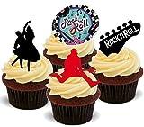 Rock N Roll Mix 50er Jahre - 12x Esspapier Cupcake Deko