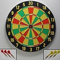TENTABLE dart cible de jeu de fléchettes 2 côtés en bois possibilité d'animer de fléchettes avec 6 fléchettes, pointe en métal