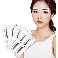 Kit de maquillaje con 32 pares de plantillas adhesivas para cejas para 4 tipos de cejas, para mujeres y niñas