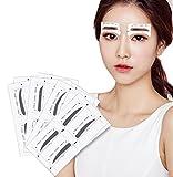 32Paar 4styles Augenbrauenkorrektur Schablonen Grooming Kit Make-up Shaper Set Schablone Werkzeug DIY Beauty Tools Augenbrauen Aufkleber für Frauen Mädchen und Damen