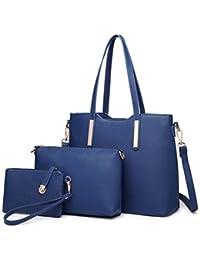 Miss Lulu Women Fashion Handbag Shoulder Bag Purse Faux Leather Tote 3  Pieces 7f7be3a5c1c3b