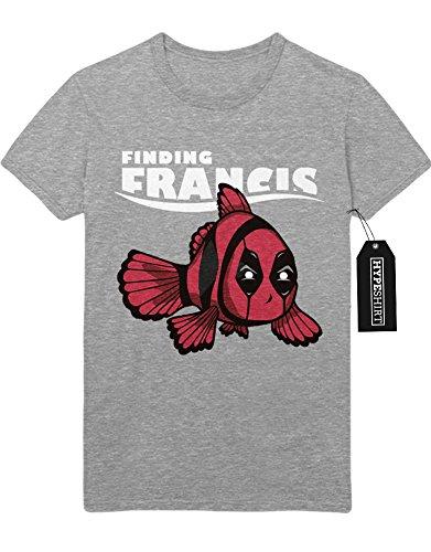 T-Shirt Finding Francis Findet Nemo Deadpool Mashup H549336 Grau (Dori Kostüme)