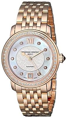 Frederique Constant Women's Gold Tone Steel Bracelet & Bracelet Automatic MOP Dial Watch 303WHF2PD4B3