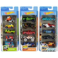 Hot Wheels American 5-Pack 1:64 Scale Die-Cast Cars Collectors of All Ages Premium Graphics Exclusive Great Gift Idea GNV04