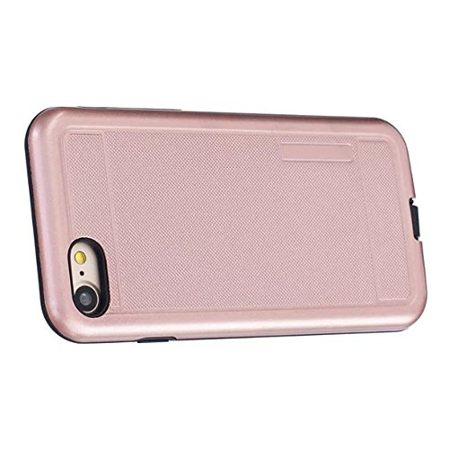 iPhone Case Cover 2 in 1 neue Rüstung Solid Color Dot Muster mattiert Stil Hybrid Dual Layer Rüstung Defender PC Hard zurück Fall Deckung Shockproof Fall Für Apple IPhone 7 4,7 Zoll ( Color : Rose Gol Rose Gold