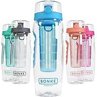Bonke–Bottiglia di acqua con infusore per frutta, ca. 1 L,