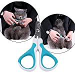 MAIYADUO Pet Cat Nail Clippers Trimmer, Cat Puppy Rabbit Bird Kitten Hamster Stainless Steel Blades Nail Clippers… 13