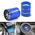 Mesllin Doppelturbinen-Ventilator, Auto-Luftfilter-Einlass-Gas-Kraftstoff-Sparer-Turbolader mit 3 Gummihalter