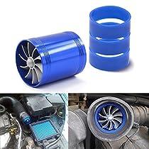 TOOGOO Universal Car Turbine Power Power Turbo Charger Tan Boost Air Intake Fan 12V