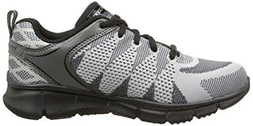 Skechers - Equalizer Quick Track, Sneakers per bambini e ragazzi grigio (charcoal/noir)