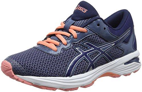 Asics Gt-1000 6 GS, Zapatillas de Running Unisex Niños, Azul (Smoke Blue/Indigo Blue/Begonia Pink 5649), 39.5 EU