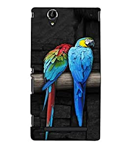 Fuson Designer Back Case Cover for Sony Xperia T2 Ultra :: Sony Xperia T2 Ultra Dual SIM D5322 :: Sony Xperia T2 Ultra XM50h (Colourful Parrots Theme)