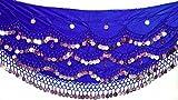 VELVET NOISY Bauchtanz Kostüm Gürtel Gürtel Größe UK 18-24 3XL PLUS GRÖSSE (Royal Blue Gold)