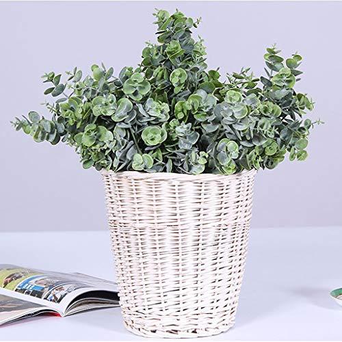 ToDIDAF Simulationsanlage Kleine Eukalyptus Grün Blatt Geld Blätter/Künstliche Blume/Gefälschte Blume für Hochzeit Dekoration