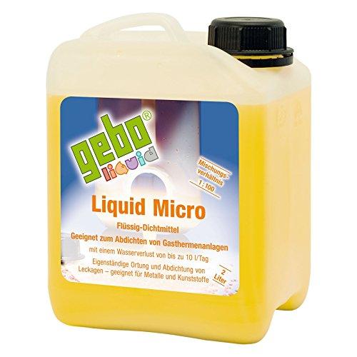 Gebo 75012 Liquid Micro 2l Dichtmittel Flüssigdichtmittel Heizungsdichtmittel für Gasthermenanlagen und Brennwertanlagen