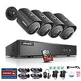 ANNKE 8 Channels 1080P Lite H.264+ HD-TVI DVR w/ 4x 1.30 Megapixels 960P Weatherproof Metal Bullet Camera+1TB Professional Surveillance HDD Security Camera System, Convenient Email Alert with Images