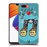 Head Case Designs 2 Achtelnote Meow-Sical Symbole Soft Gel Hülle für Oppo R15
