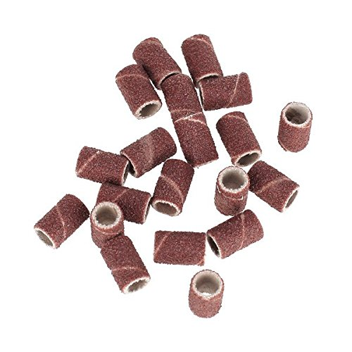 Imported 20Pcs 80 Grit Sanding Bands Replacement Bits for Nail Art Drill Machine  available at amazon for Rs.140