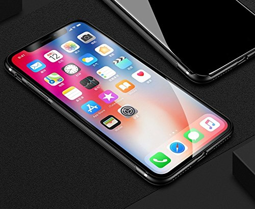 Custodia Iphone X Nuova Custodia In Vetro Temperato Design Con 9h + Super Durezza, Forte Resistenza Agli Urti, Custodia Slim Cover Iphone X 2017 Supporta La Ricarica Wireless 10