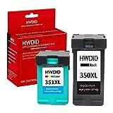 Hwdid, cartucce di inchiostro di ricambio rigenerate per HP 350XL 351XL ad alta resa per HP Officejet J6424J5780J5785Photosmart C4280C4340C5280C4480C4580C5280D5360Deskjet D4260D4360