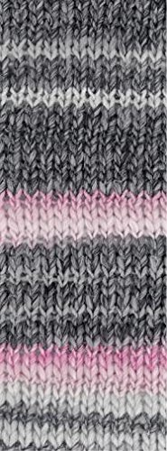 Lana Grossa Olympia Grey 801 Dinkel-/Hellgrau/Rosa/Pink 100g