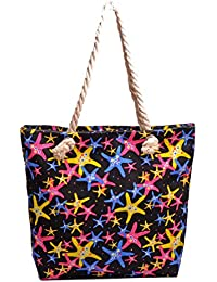 Re-usable Eco Friendly Canvas Material Beach Shopping & Tote Bag Large Capacity. - B0765WGWPM