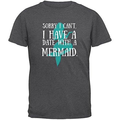 Haben Sie einen Termin mit einem dunklen Heather Erwachsenen T-Shirt Meerjungfrau Grey