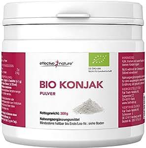 effective nature Bio Konjak Pulver - 300g - Glucomannan Pulver zum Abnehmen