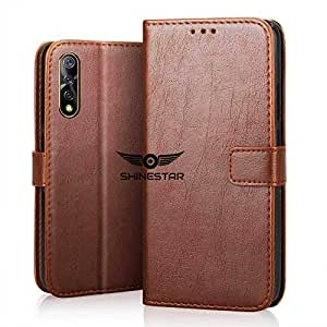SHINESTAR Vivo S1 Flip Case | PU Leather Flip Cover Wallet Case with Inside TPU Case Cover for Vivo S1 - (Classic Brown)