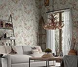 TX NEIYI Retro American Land Vliestapete Europäischen Stil Garten Blume Schlafzimmer Wohnzimmer Sofa TV Tapete Restaurant Gehweg Tapete,Lightcard