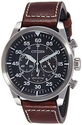 Citizen ca4210-16e-orologio: marrone