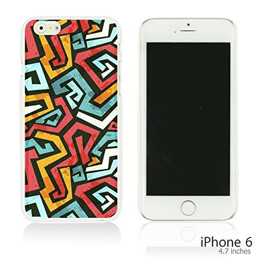 OBiDi - Geometrical Pattern Hardback Case / Housse pour Apple iPhone 6 / 6S (4.7 inch)Smartphone - Funny Tribal Print Colorful Maze