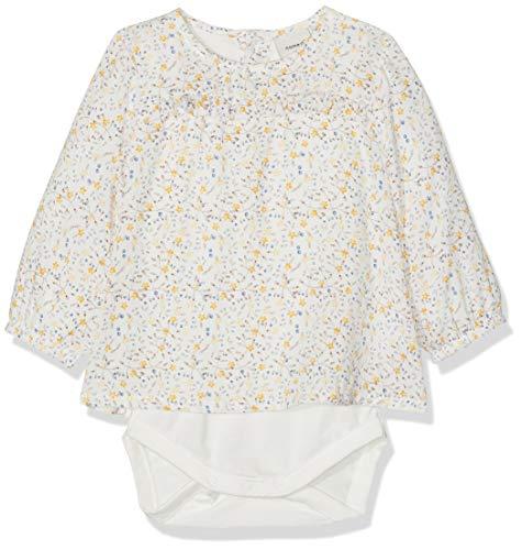 NAME IT Baby-Mädchen Spieler NBFDAMITA LS Shirt Body, Mehrfarbig (Snow White), (Herstellergröße: 80)