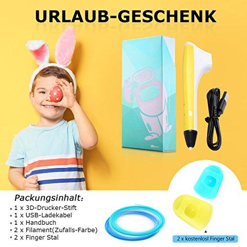 3d Drucker Stift Set, Gelb AILINK Stift, DIY Geschenk für Kinder Erwachsene, umweltfreundliches Filament, Intelligent Temperature Technology