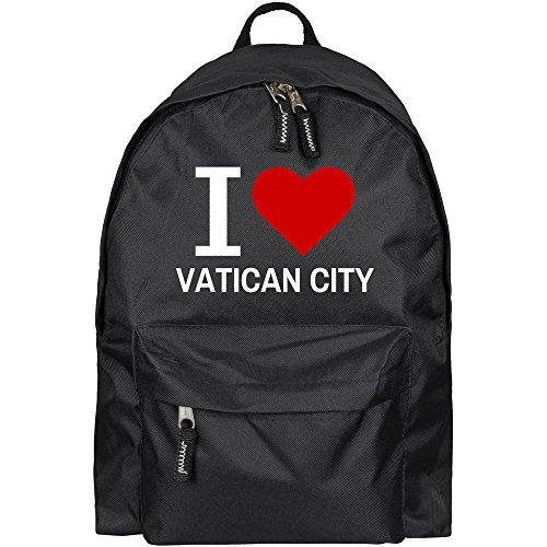 Rucksack Classic I Love Vatican City schwarz - Lustig Witzig Sprüche Party Tasche (Party Taschen City Party)