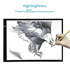 Idea Regalo - Tavoletta Luminosa A3,ICOCO Tracing Light Box con luce regolabile disegno del tessuto, cartone animato, architettura e drafting
