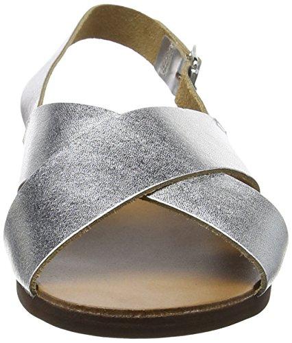 New Look Damen Freda Sandalen mit Absatz Silberfarben