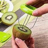 JINZA Venta caliente Mini Fruta Kiwi Cutter Peeler Slicer Utiles de Cocina Herramientas Kiwi peeling herramientas para Pitaya Green