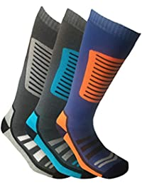 i-Smalls Men's Pack of 3 High Performance Long Hose Thermal Snowboarding Ski Sock